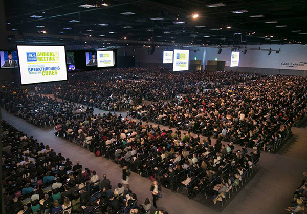The AACR Annual Meeting brings together more than 18,000 scientists from around the world