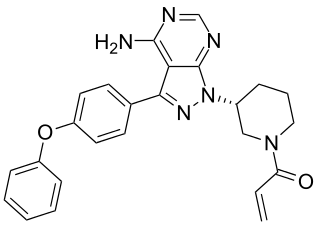 Chemical structure of ibrutinib.