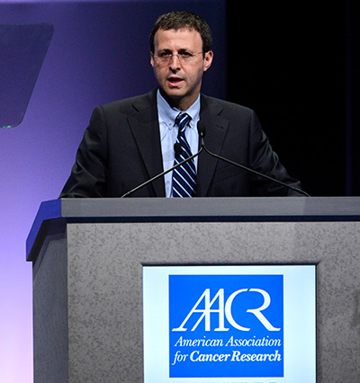 Richard S. Finn, MD, presents data from the PALOMA-1 trial during the AACR Annual Meeting 2014 in San Diego.