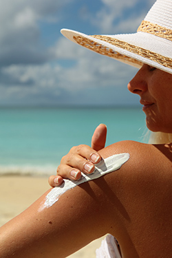 Sun-safe habits such as wearing sunscreen and a wide-brimmed hat can help reduce your risk of skin cancer.