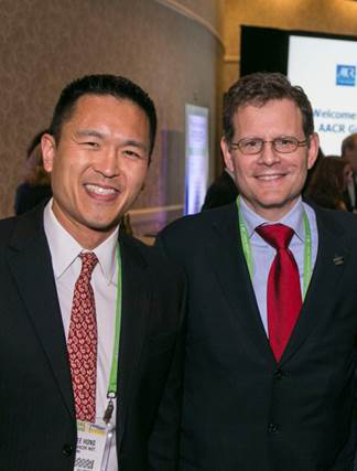 Hong, left, with Clifford A. Hudis, MD, a past-president of ASCO (2013-2014) and vice president for government relations, chief advocacy officer, and chief of the breast medicine service at Memorial Sloan Kettering Cancer Center.