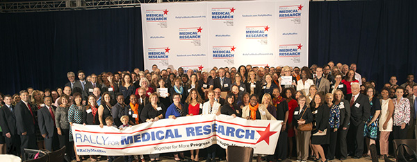 Rally for Medical Research Hill Day participants gather today before visiting their members of Congress to raise awareness about the importance of continued investment in medical research.