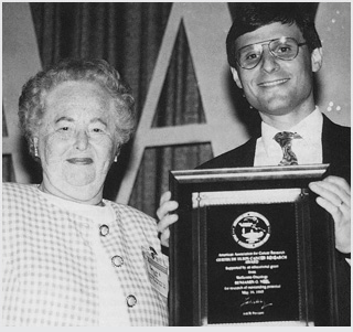 Benjamin G. Neel, MD, PhD, received the inaugural AACR Gertrude B. Elion Cancer Research Award from the 1993 AACR Annual Meeting.