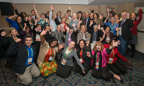 AACR Scientist↔Survivor Program Participants at the 2015 AACR Annual Meeting. Photo by © AACR/Phil McCarten 2015.