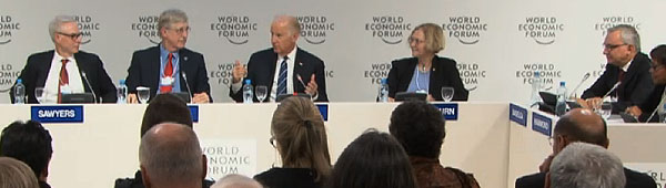 Vice President Biden leads a special session at the World Economic Forum in Davos, Switzerland.