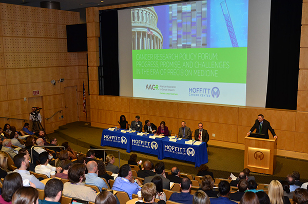 "The ""Cancer Research Policy Forum: Progress, Promise, and Challenges in the Era of Precision Medicine"" event was held on March 7, 2016 at Moffitt Cancer Center."