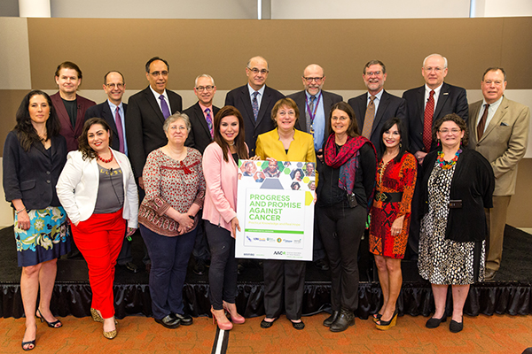 "Speakers and participants in the ""Progress and Promise Against Cancer"" community event on April 16, 2016, in New Orleans. Photo by © AACR/Scott Morgan 2016"