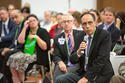 "Augusto Ochoa, MD, speaks at the ""Progress and Promise Against Cancer"" community event. Photo by © AACR/Scott Morgan 2016"