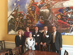 Lori Marx-Rubiner, MSW, MA (third from the left), on Capitol Hill.