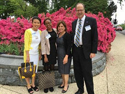 SSP participant Meisha Brown (second from the left) on Capitol Hill.
