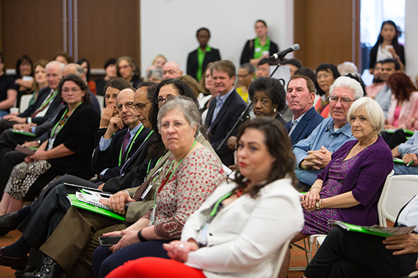 "Attendees at the ""Progress and Promise Against Cancer"" community event in New Orleans on April 16, 2016. Photo by © AACR/Scott Morgan 2016"