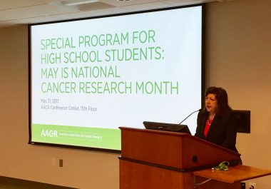 AACR Welcomes High School Students for National Cancer Research Month