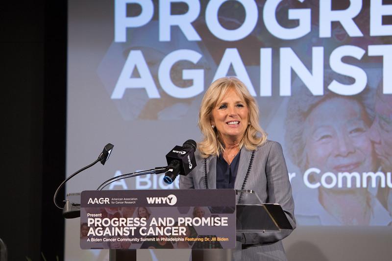 Jill Biden podium