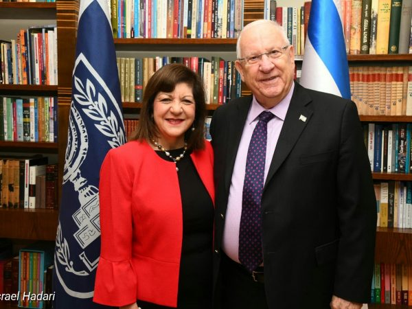 Foti Meets with Israeli President, Discusses Cancer's Global Impact