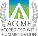 This image has an empty alt attribute; its file name is ACCME-commendation-full-color_130.jpg