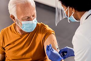 patient receiving vaccination